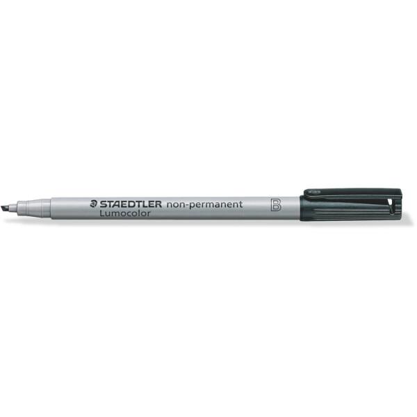 Folienschreiber Staedtler Lumocolor 312 - schwarz 1 - 2,5 mm non-permanent nachfüllbar