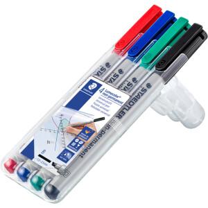 Folienschreiber Staedtler Lumocolor 312 - farbig sortiert 1 - 2,5 mm non-permanent nachfüllbar 4er-Set