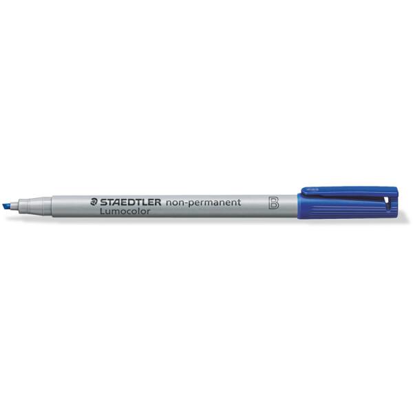 Folienschreiber Staedtler Lumocolor 312 - blau 1 - 2,5 mm non-permanent nachfüllbar