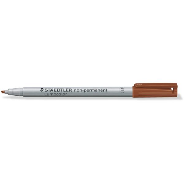 Folienschreiber Staedtler Lumocolor 312 - braun 1 - 2,5 mm non-permanent nachfüllbar