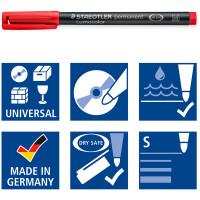 Folienschreiber Staedtler Lumocolor 313 - farbig sortiert 0,4 mm permanent nachfüllbar 6er-Set