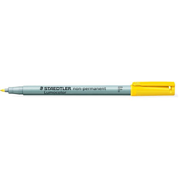 Folienschreiber Staedtler Lumocolor 316 - gelb 0,6 mm non-permanent nachfüllbar