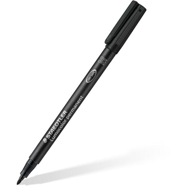 Folienschreiber Staedtler Lumocolor 317 - schwarz 1 mm permanent nachfüllbar
