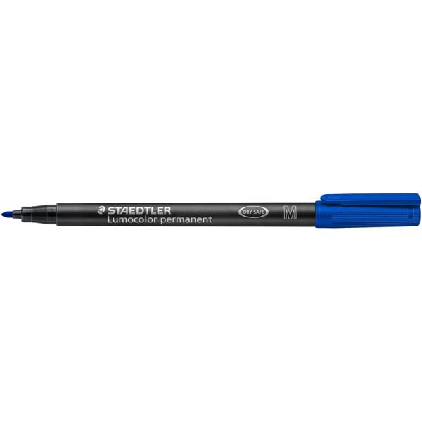 Folienschreiber Staedtler Lumocolor 317 - blau 1 mm permanent nachfüllbar