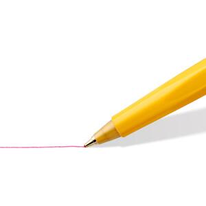 Kugelschreiber Staedtler triplus 430F - gelbes Gehäuse Mine F blau
