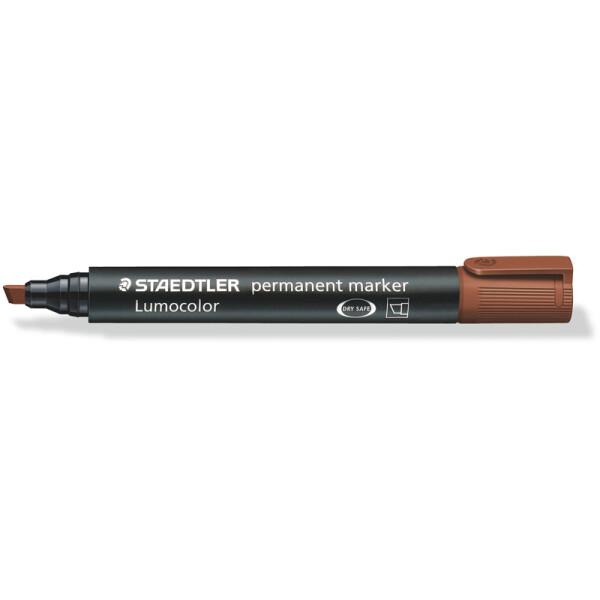 Permanentmarker Staedtler Lumocolor 350 - braun 2 - 5 mm Keilspitze nachfüllbar