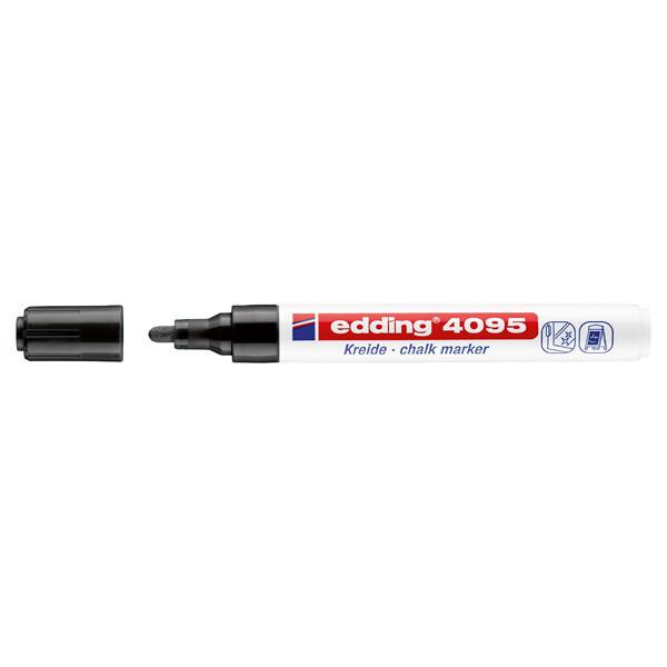 Kreidemarker edding 4095 - schwarz 2 - 3 mm Rundspitze non-permanent nicht nachfüllbar