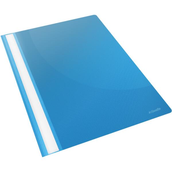 Sichthefter Esselte 28322 - A4 310 x 225 mm hellblau mit Beschriftungsfeld umweltschonende PP-Folie