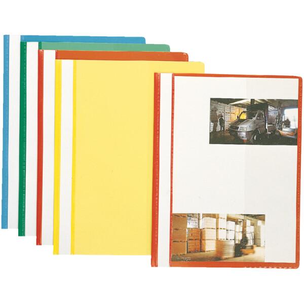 Sichthefter Esselte 5629010 - A4 310 x 225 mm farbig sortiert mit Beschriftungsfeld umweltschonende PP-Folie 10er-Set