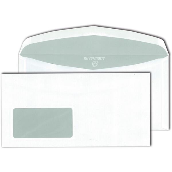 Kuvertierumschlag Mayer Kuvert Kuvermatic 30005469 - DIN C6/5 114 x 229 mm nassklebend mit Fenster außenliegende Klappe weiß 80 g/m² Pckg/1000
