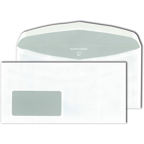 Kuvertierumschlag Mayer Kuvert Kuvermatic FLAT 30005462 - DIN C6/5 114 x 229 mm nassklebend mit Fenster innenliegende Klappe weiß 75 g/m² Pckg/1000