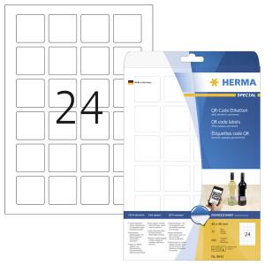 Universaletikett QR Code Herma QR-Code Etiketten 9642 - A4 40 x 40 mm weiß permanent FSC Papier für alle Druckertypen Pckg/600