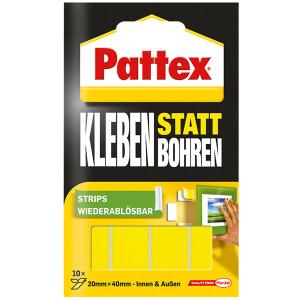 Klebestreifen Pattex 9H PXMS1 - weiß bis 2 kg für glatte Oberflächen Pckg/10